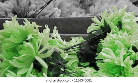 Artificial green flowers for sale