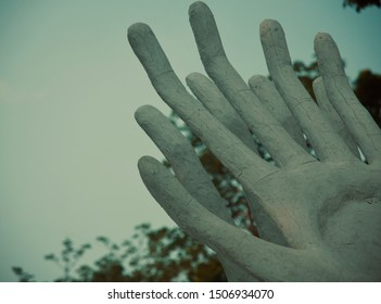 Artificial human hands with fingers unique stock photo