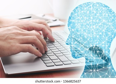 Artificial intelligence and deep learning concept. 