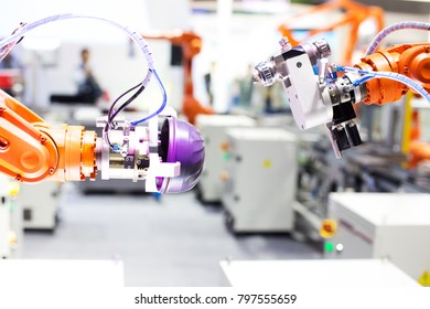 artificial intelligence machine in modern factory