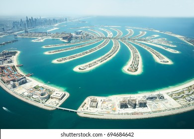 An Artificial Jumeirah Palm Island On Sea, Dubai, United Arab Emirates