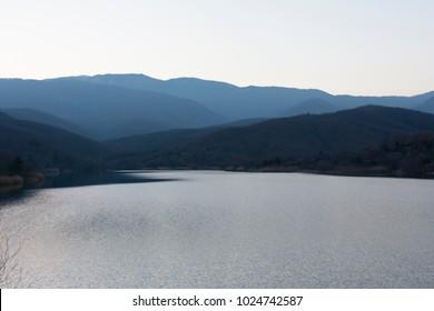 Artificial lake of Mining (Metaliou), Paionia, Macedonia Greece