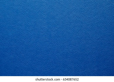 Artificial leather. Cover of blue color from the skin