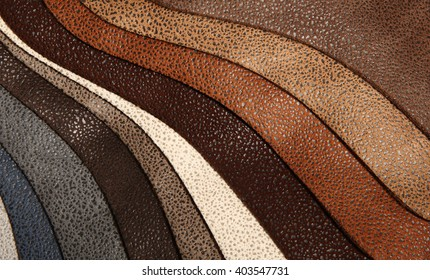 Artificial leather variety shades of colors horizontal