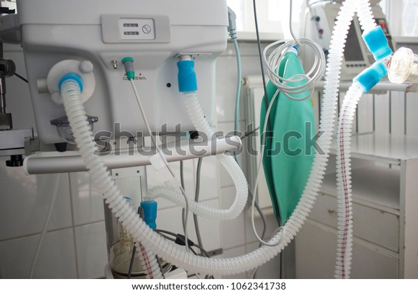 artificial lung ventilation unit in the medical ward