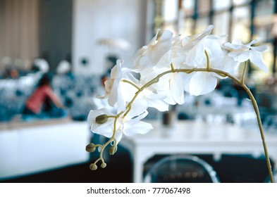 artificial orchid flower over contemporary banquet hall place for the amazing party