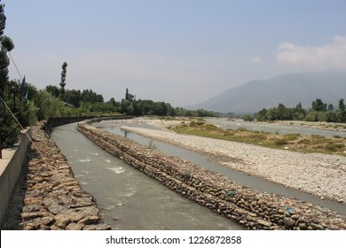 artificial river branch from River Sindh in Kashmir for harvesting