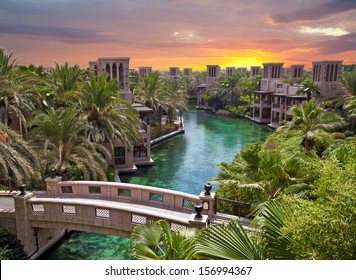 Artificial river in Dubai, Saudi Arabia