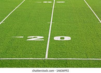 Artificial surface football field