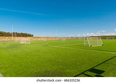artificial turf football field