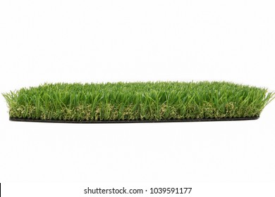 Artificial turf on isolate white background.