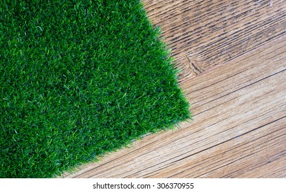 artificial turf on wood floor