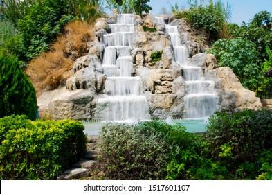 artificial waterfall Antalya degirmenonu nature park