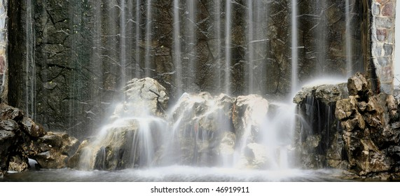artificial waterfall background, high resolution