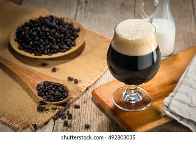 Artisan craft cold brew nitro gourmet coffee espresso roasted coffee beans fresh decor