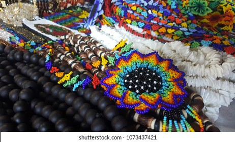 Artisan Market huichol beaded art