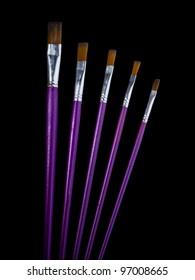 Artist Brushes On Black