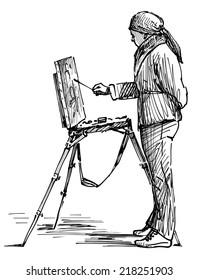 artist on the plein air