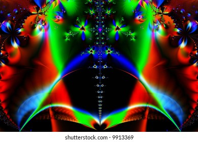 Artistic abstract background of a digital illustration