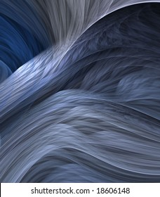 Artistic Abstract Background - Layered, flowing shades of blue and gray textures