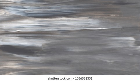 Artistic abstract painting in grey and white colours. Brush stroke texture. Acrylic background.