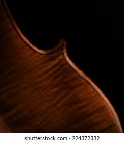 Artistic closeup for cello