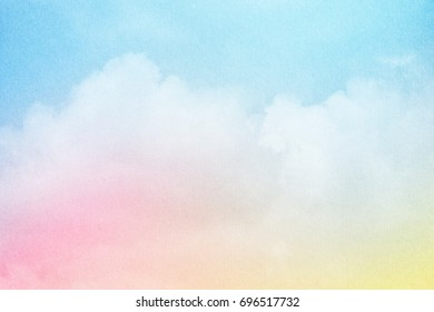 artistic cloudscape with gradient color and grunge texture, nature abstract  background