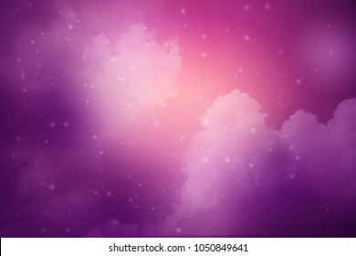 artistic cloudy night sky with gradient color and stars, nature abstract background