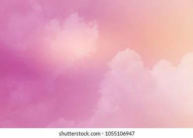 artistic cloudy  sky with gradient color, nature abstract background