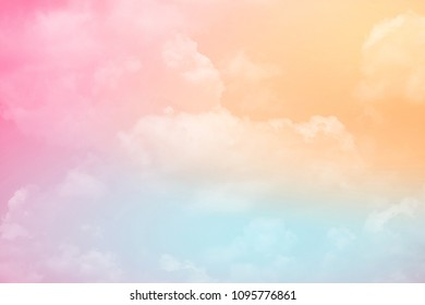 artistic cloudy sky with pastel gradient color, nature abstract background