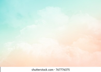artistic cloudy sky with pastel gradient color ,nature abstract background