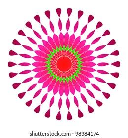 Artistic colorful circular design
