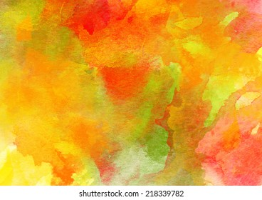 Artistic Colorful Watercolor Background.