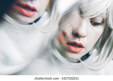 Artistic and conceptual image about personality disorder