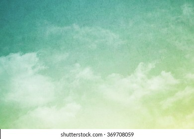 artistic fluffy cloud and sky with gradient color and grunge texture