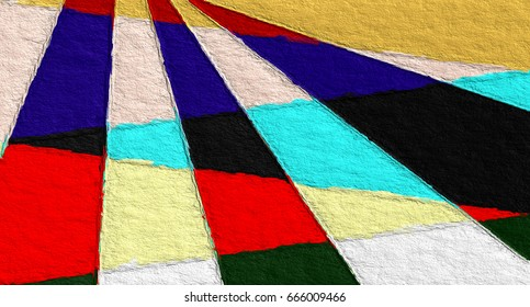 artistic graphic illustration geometric pattern with rough paper texture