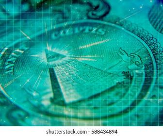 Artistic Grunge Money Concept Background  3D Render
