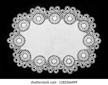 artistic lace small round table cloth, frame