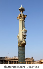 Artistic lamppost in the Place de la Concorde, Paris