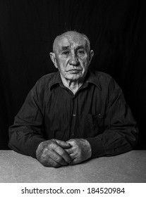 Artistic portrait of an old man