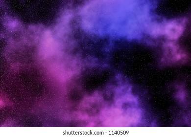 Artistic representation of a nebula