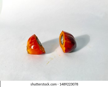 The artistic shot of palm oil fruit.