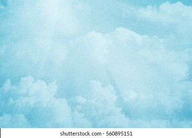 artistic soft cloud and sky with pastel color and grunge texture ,nature abstract background