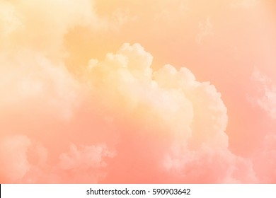artistic soft cloud and sky with pastel color ,nature abstract background