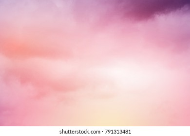 artistic soft cloudy sky with gradient pastel color