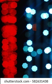 Artistic style - Abstract background of blurred lights.Urban abstract texture background for your design