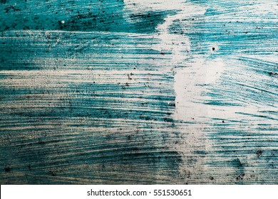 Artistic Teal Blue Grungy Chipped Paint Texture Background