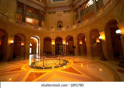 An artistic view of the grand hall of the MN State Capitol building. More with keyword Series002
