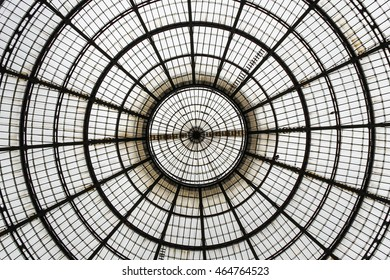 An artistic view of a mall dome.