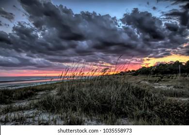 An artistic view of sunset on my favorite island, Hilton Head Island, SC.